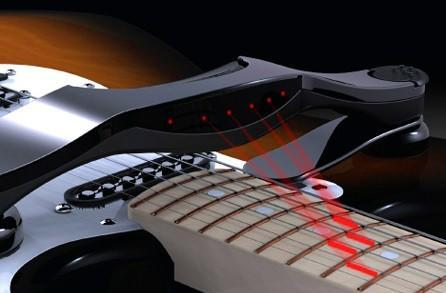 Maestro guitar attachment shows you how to shred with lasers