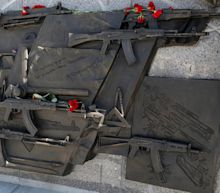 Red faces as Russian monument to creator of Kalashnikov depicts German rifle