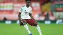 Foot - ANG - Arsenal - Mikel Arteta (Arsenal) ravi de la sélection de Bukayo Saka en équipe nationale