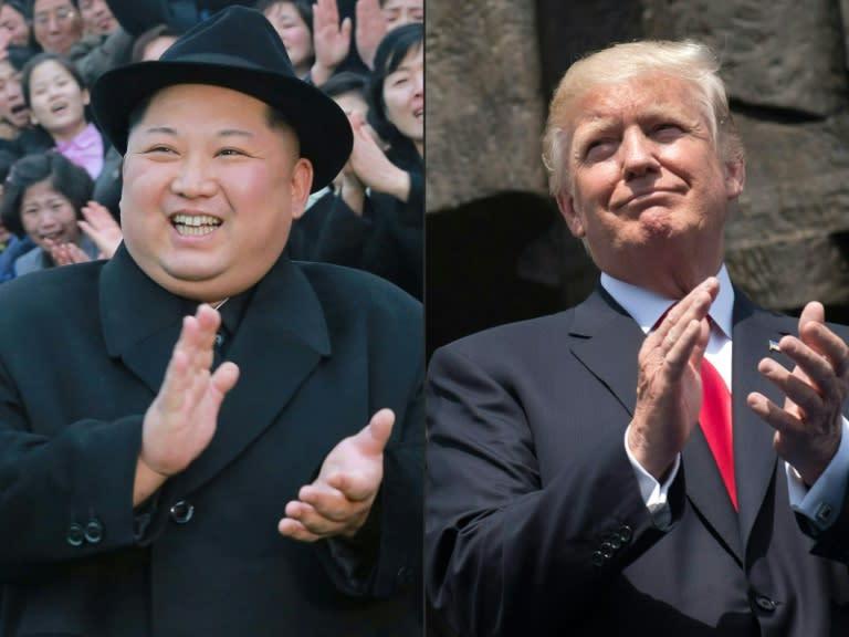 US President Donald Trump (R) says he is ready to meet again with North Korea's Kim Jong Un (AFP Photo/-, SAUL LOEB)