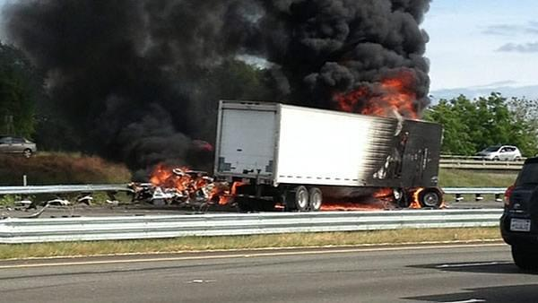 Two dead after truck driver chokes on Interstate 80