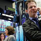 Stocks fall, US budget deficit widens to six-year high