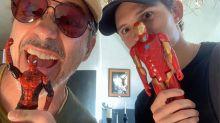 Tom Holland y Robert Downey Jr. lanzan un guiño conjunto a los fans de Marvel