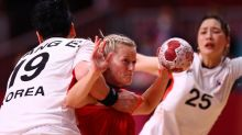 Olympics-Handball-Norway lay down marker with thumping of South Korea, Brazil hold ROC