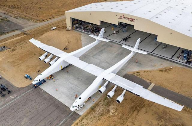 The world's largest aircraft prepares for testing