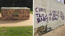 Mystery surrounds bizarre message graffitied through Melbourne suburb
