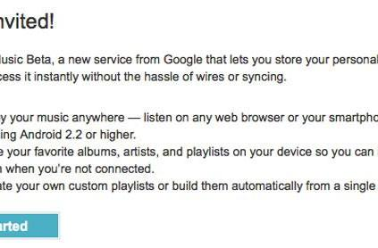 Google Music Beta invites start rock 'n rolling out