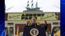 President Obama tours the Jersey Shore