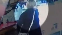 'It's disgusting what society is doing': Surveillance video catches woman taking funeral donations