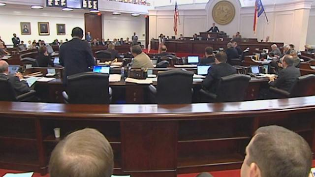 Protesters watch as abortion bill passes NC Senate