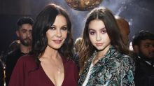 Catherine Zeta-Jones and lookalike daughter Carys turn heads at New York Fashion Week