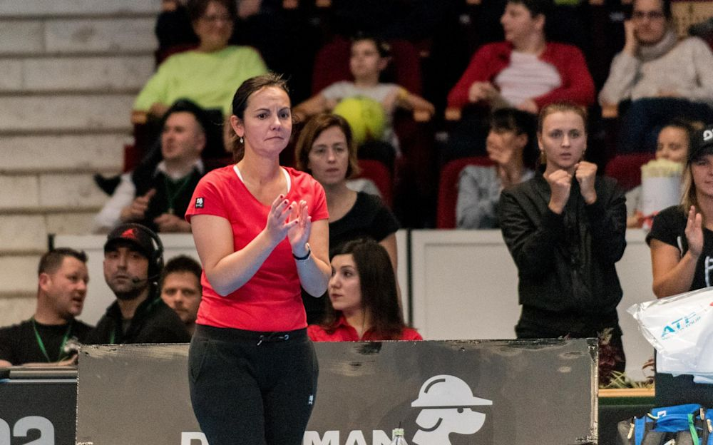 Dominique Monami was insulted by Ilie Nastase when Belgium faced Romania in the Fed Cup in February - NurPhoto