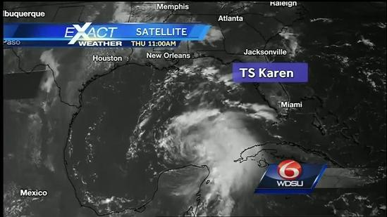 12 p.m. Tropical Storm Karen Update
