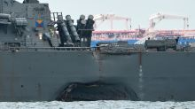 Remains of US sailors found on warship that collided off Singapore
