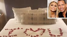 Alex Rodriguez Spells Out Sweet Message in Rose Petals to Jennifer Lopez After Engagement