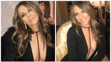 Liz Hurley turns heads in risqué Thanksgiving outfit