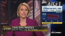 AIG misses on bottom line