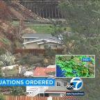 Rain prompts evacuations, school closures in Malibu