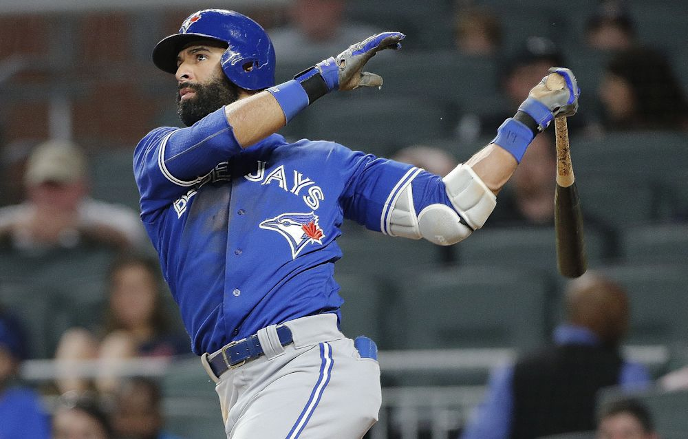 Jose Bautista has lit a controversy with a bat flip again. (AP)