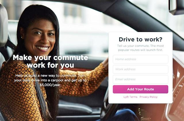 Lyft has a new carpooling service for the Bay Area