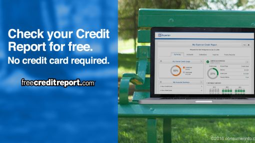 Get your FREE Credit Report. No credit card needed