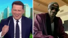 Karl Stefanovic and Snoop Dogg sing in bizarre Today segment