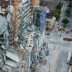 Crane crashes down at high-rise hotel site in New Orleans