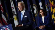"""Premier meeting commun pour Joe Biden et sa colistière Kamala Harris, qui promettent de """"reconstruire"""" l'Amérique post-Trump"""