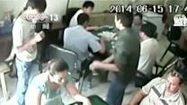 Raw: Dramatic Video Shows Knife Attack in China
