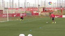 El Sevilla sigue su preparación para el derbi