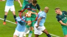 'Absolute joke': Football world erupts over 'blatant' handball controversy