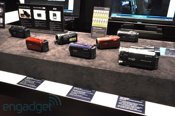 Sony's camera and camcorder lineup spotted at CES (video)