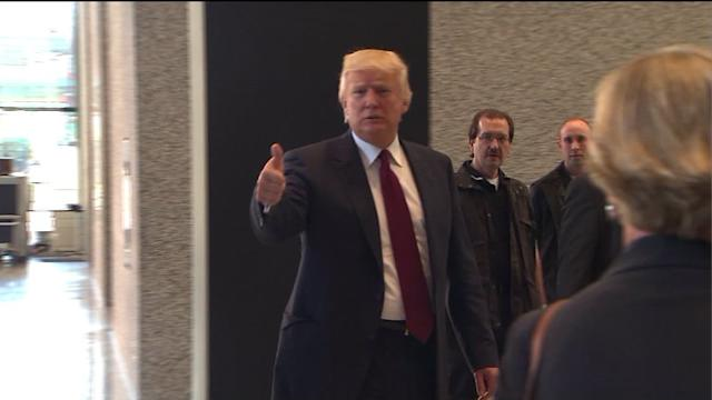 Donald Trump takes witness stand