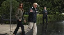 Melania Trump mocked for her 'storm stilettos' as she heads to Texas for Hurricane Harvey relief