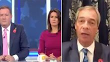Nigel Farage clashes with Piers Morgan over Donald Trump 'inject disinfectant' claim