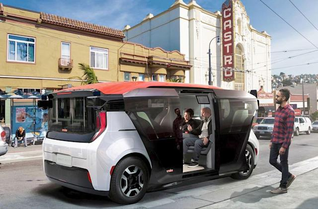 Cruise's self-driving electric shuttle is made for ridesharing