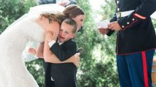 Marine's Son Weeps in Stepmom's Arms at Wedding: 'He Could Feel All of the Emotions in the Room and All of the Love'