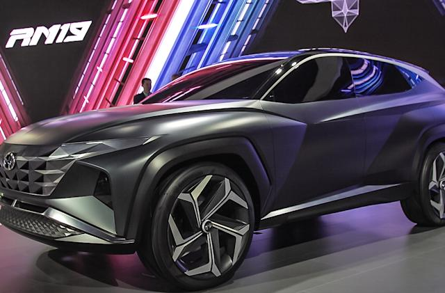 Hyundai's Vision T concept SUV looks like a driveable TIE Fighter