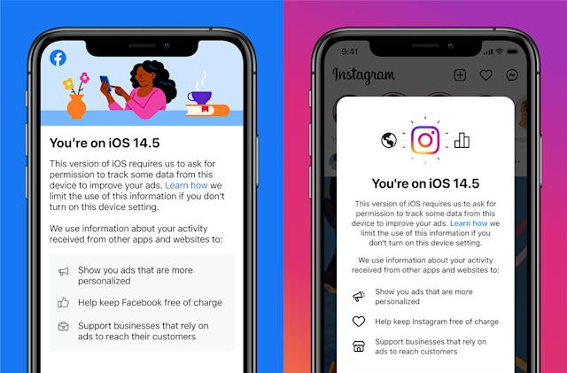 Facebook and Instagram use iOS notices to sell you on app tracking