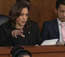Senator Kamala Harris emphasizing her East Bay roots as she runs for president