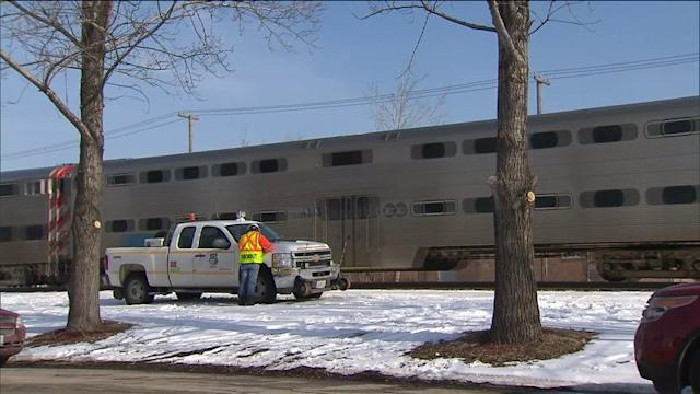 RAW: Scene of Metra accident