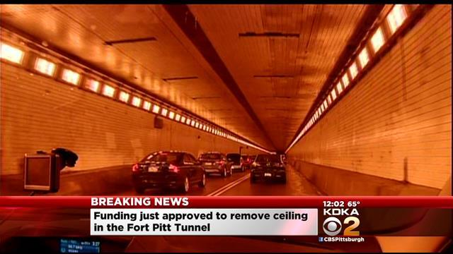 PennDOT To Remove Fort Pitt Tunnel Ceiling