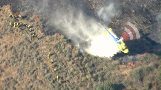 Raw Video: Firefighters Battle Camarillo Brush Fire
