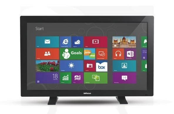 InFocus' BigTouch is a 55-inch all-in-one built for conference spaces, classrooms with large desks