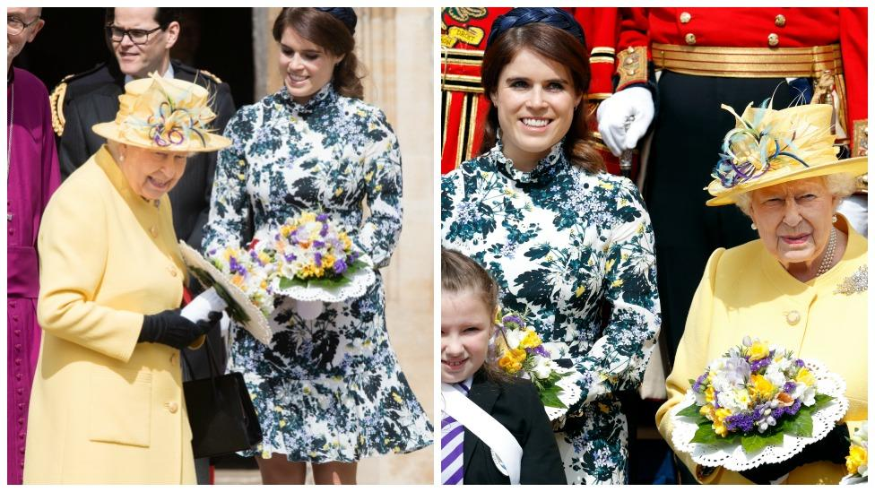 Princess Eugenie's subtle tribute to the Queen at Easter service