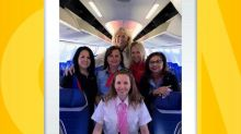 Southwest flight celebrates 1st 'unmanned' flight with all-female crew
