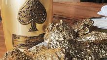 Bling-bling, ñam-ñam: comidas bañadas en oro solo aptas para millonarios
