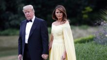 Melania Trump brings major glamour for black-tie dinner at Blenheim Palace