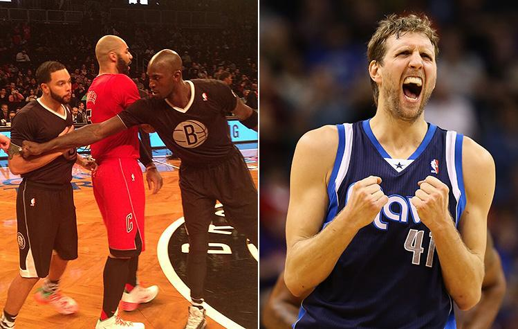 finest selection 54a7b c2b1a Dirk Nowitzki isn't a fan of the NBA's Christmas sleeved jerseys