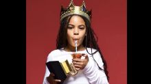 Beyoncé's Daughter Blue Ivy, 9, Wears a Crown and Sips Out of Her First Grammy Award in Iconic Photo Shoot